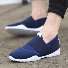 Men Slip-Ons Higher Shoes Men's Casual Shoes Breathable Canvas Sneakers Shoes For Men blue 39