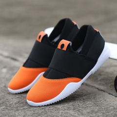 Men Slip-Ons Higher Shoes Men's Casual Shoes Breathable Canvas Sneakers Shoes For Men orange 44