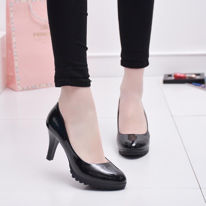 Women Fashion Buckle Ladies Shoes Wedges High Heels Platform Pink Casual Bowtie Pumps Sapato Feminin black 36