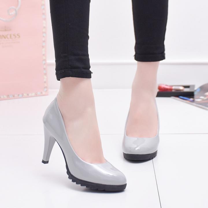 Women Fashion Buckle Ladies Shoes Wedges High Heels Platform Pink Casual Bowtie Pumps Sapato Feminin grey 37