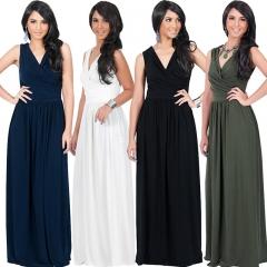 Sleeveless Women V-neck Corset Bow Dating Bodycon Sexy Night Club A-line Dress m blue