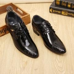 Big Size Large Hot Business Fashion Winter Men's Super Gentle Wedding Leather Shoes Luxury Formal black 39 leather