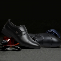 Large Size Business Good Quality Winter Men's Gentle Wedding Leather Shoes Luxury Brand black 39 leather