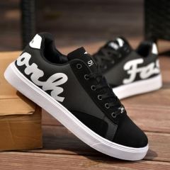 Fashion Sneakers Autumn And Winter Shoes Wear Trend Casual Letters Men's Shoes black 39