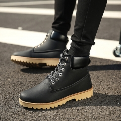 Men's Spring Martin Boots Military Boots With Tooling Boots black 39