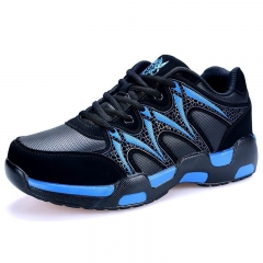 Super Large Size Sport Shoes Hiking Young Men's Fashion Shoes Lace-Up Outdoors Street Sneakers blue 39