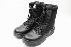 Military Tactical Combat Outdoor Army Men Boots Desert Botas Hiking Shoes Travel Leather High Boots black 39