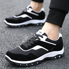 Fashion Sneakers New Style Men Casual Shoes Lace Up Breathable Comfortable Men Shoes black 39