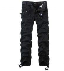 New Style Men's Leisure Pants Large Size Overalls Multi-pocket Outdoor Pants More Pockets black 29