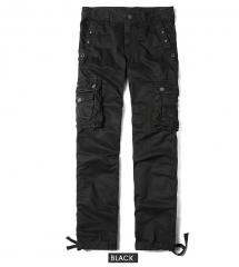 Men's Leisure Pants Large size Overalls Multi-pocket Outdoor Pants More pocket black 29