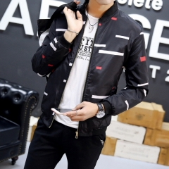 Men's casual Camouflage Floral Slim pilot jacket men's coat fashion shelves baseball jacket black01 3xl
