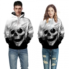 Skull Print 3D Hooded Pullovers Full Sleeve Sporting Tracksuits Couplewear Women/men Sweatshirts picture color s