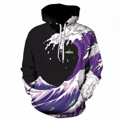 Men 3d Sweatshirts Print Colorful Sea Waves Unisex Thin Pullovers Tracksuits Space Galaxy Hooded picture color s