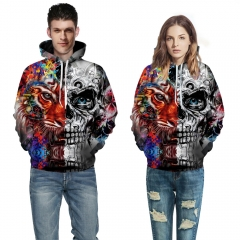 Tiger Skull 3d Print Hoodies Women Loose Fashion Unisex Christmas Hooded Sweatshirts picture color s