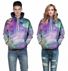 New Galaxy Hoodies 3D print Space starry sky Sweatshirt Hooded Unisex Harajuku Punk picture color s