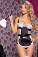 Sexy Lingerie New Sweet Beautiful Maid Dress Sexy Suit Maid Service Maid Dress Fun Suit black one size
