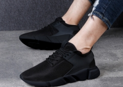 New spring men's shoes non-slip casual mesh sneakers breathable wild couple shoes black 40