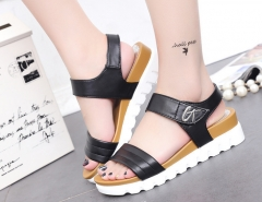 Women's shoes fashion summer low heel sandals women black 36