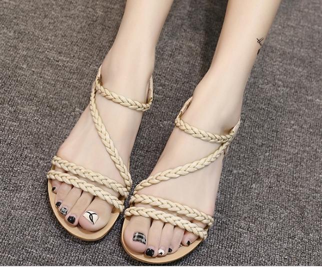 396bfbf01 Women s shoes summer flat sandals braided sandals women beige 41  Product  No  2184003. Item specifics  Seller SKU JJ8091109  Brand