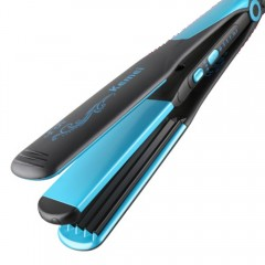Straight roll dual-use curling iron 2 in 1 does not hurt hair negative ion corn clip hairdressing blue one size