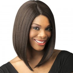 New European and American wig women's short hair chemical fiber hair sets light brown one size