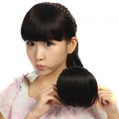 Liu Hai invisible seamless belt headband braid wig bangs black one size
