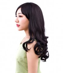 Wig Europe and America no trace hair extension piece thick wig piece blackA one size