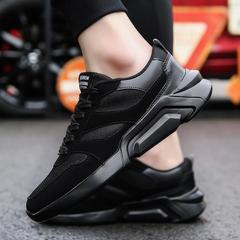 New trend cool board shoes sports and leisure running mesh men's shoes black 39