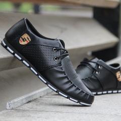 New men's shoes feet breathable shoes men's shoes casual shoes black 39