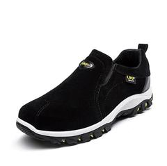 New men's shoes suede shoes outdoor hiking running men's shoes black 39