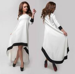 New Autumn Women dress Full Sleeve Loose Cotton National Long In Wind Dresses s white