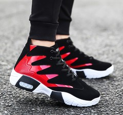 Men's shoes tide black and white color trend sports shoes men's casual shoes red 41