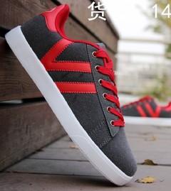 New men's casual breathable cloth shoes tide shoes shoes men's shoes red 39