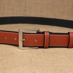 Men's pin buckle two layer leather leather belt men's retro belt belt casual-120CM-orange