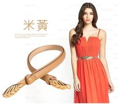 Summer belt ladies decorative belt Korean version of the sweet belt women's clothing with women-110CM-beige