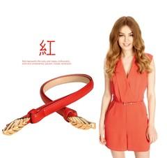 Summer belt ladies decorative belt Korean version of the sweet belt women's clothing with women-110CM-red