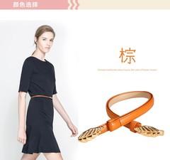Summer belt ladies decorative belt Korean version of the sweet belt women's clothing with women-110CM-orange