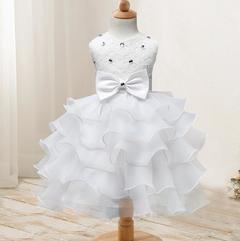 New children's clothing flower girl dress children's dress wedding flower girl princess skirt white 70cm