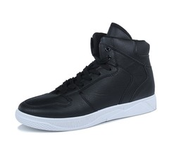 New shoes warm lace casual shoes wild trend personality men's shoes black 39