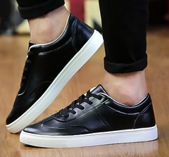 New men's shoes tide men's sports and leisure breathable men's shoes black 39