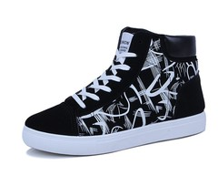Shoes men's shoes canvas shoes men's casual shoes trend youth shoes black 39