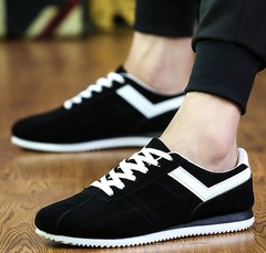 Men's casual shoes sports board shoes green trend men's shoes running men's shoes black 39
