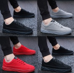 Trend men's shoes increase shoes men's sports and leisure shoes black 39