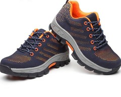 Flying woven fabric breathable and odor-resistant protective shoes outdoor protective shoes orange 39