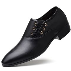 Men's Leather Shoes New Products Business Suit Leather Shoes Men's Size Casual Shoes black 45