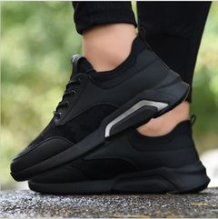 hot sales Male student youth sports shoes running shoes travel shoes men's shoes-black white 42