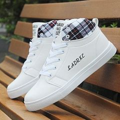 Hot sales Men's shoes casual white board shoes fashion sneakers high top shoe men shoes white 42