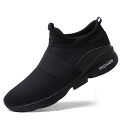 hot sales Men's  shoes mesh lightweight casual running  wear-resistant Sports Fashion Sneakers men black 42