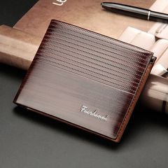 Valentine gifts Wallets  Mens wallets Men's Bags card bag short wallet mens wallets Bags brown normal