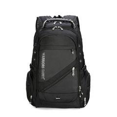 hot sale casual men's Multifunctional Bags backpack Pu soft leather bag computer bag black
